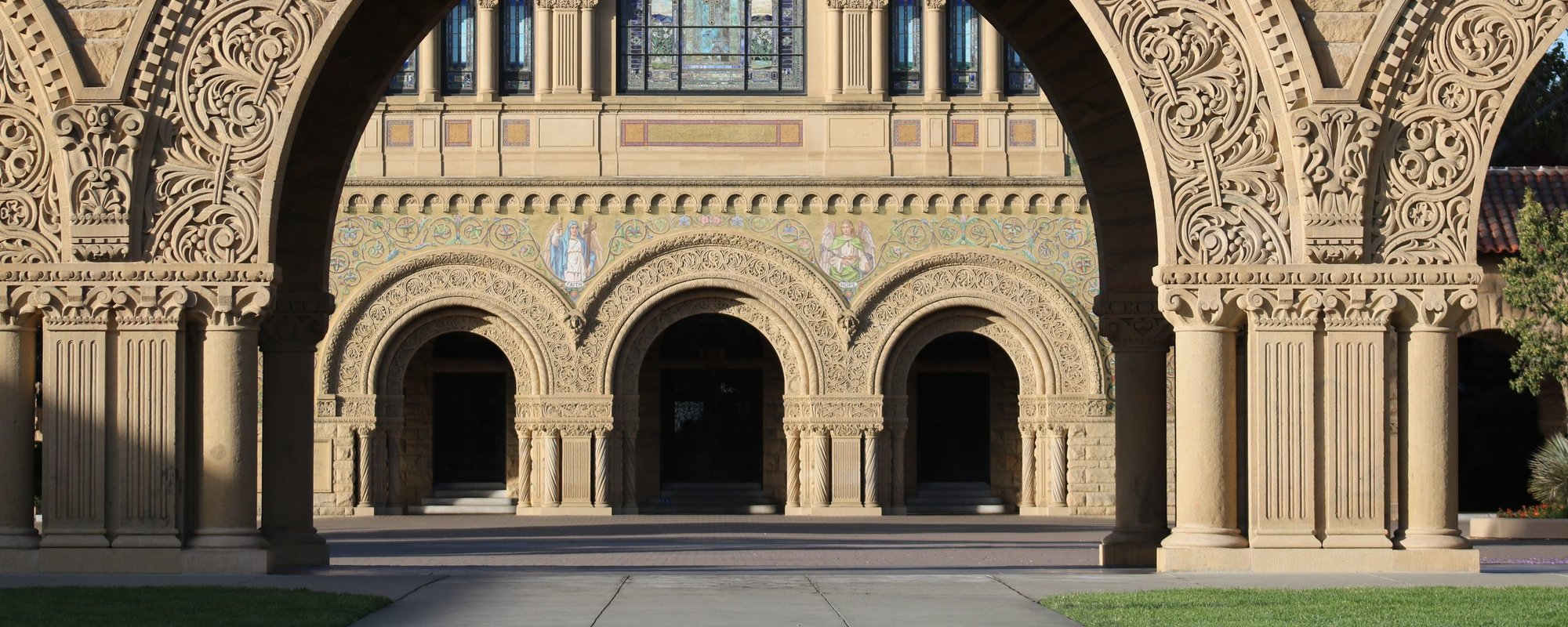 Stanford exterior, symmetrical arches